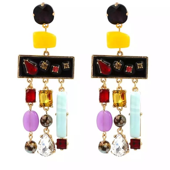 Jewelry - Candy Color Geometric Earrings